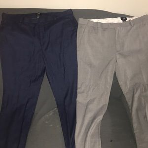 2 pair of men's slacks blue and gray...from H&M...